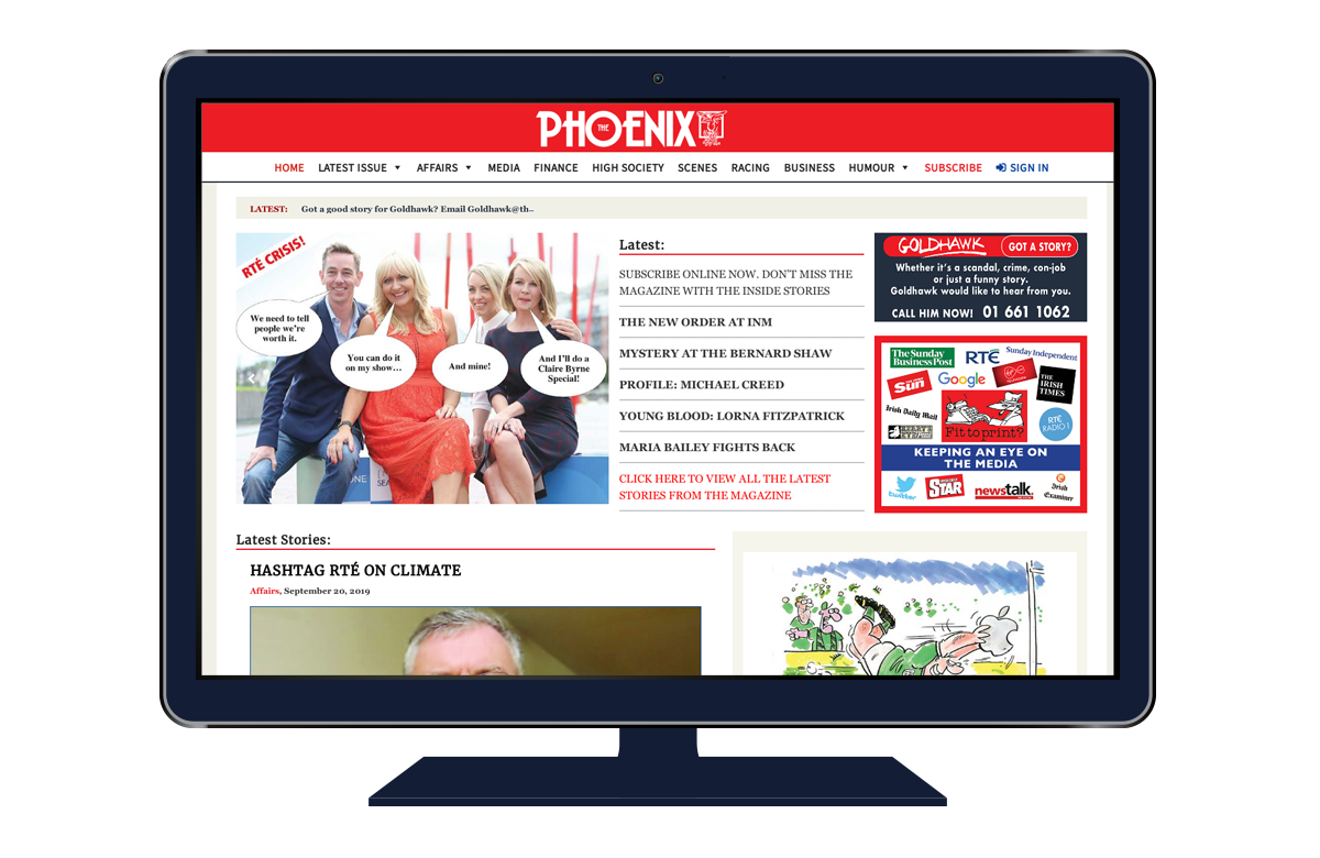 The Phoenix website developed by bluebloc