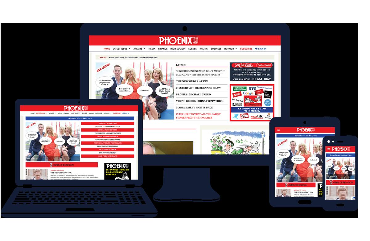 Phoneix Magazine website developed by bluebloc